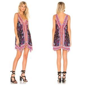 Free People Gypsy Boho Mini Slip Dress Large